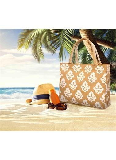 The Mia Plaj Çantası 50 x 45 Cm Beyaz Beyaz